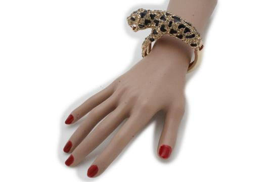 Alwaystyle4you Hot Women Fashion Jewelry Gold Metal Cuff Bracelet Bling Leopard Tiger Image 4