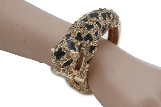 Alwaystyle4you Hot Women Fashion Jewelry Gold Metal Cuff Bracelet Bling Leopard Tiger Image 6