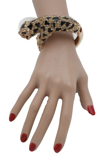 Alwaystyle4you Hot Women Fashion Jewelry Gold Metal Cuff Bracelet Bling Leopard Tiger Image 8
