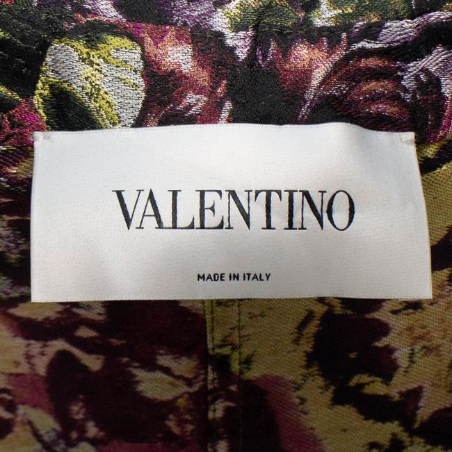 Valentino Floral Print Silk Polyester Belted Pea Coat Image 7