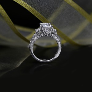 White Precious Gold with 3.00ct. Engagement Ring