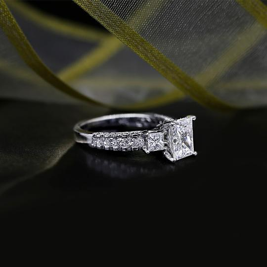 White Precious Gold with 3.00ct. Engagement Ring Image 1