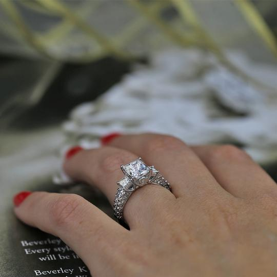 White Precious Gold with 3.00ct. Engagement Ring Image 4