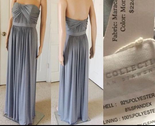 Dessy Monument Maracaine Jersey Formal Bridesmaid/Mob Dress Size 10 (M) Image 4