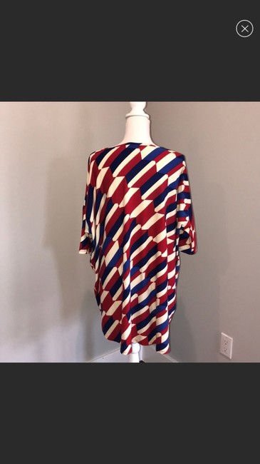 LuLaRoe Top red blue and white Image 1