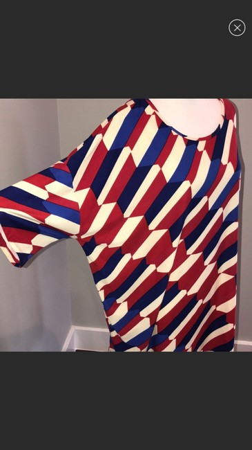 LuLaRoe Top red blue and white Image 3