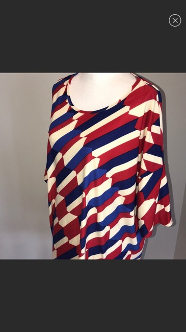 LuLaRoe Top red blue and white Image 4