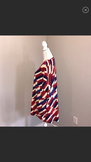 LuLaRoe Top red blue and white Image 5