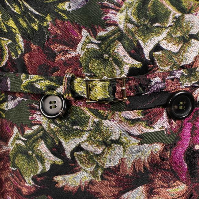 Valentino Floral Print Silk Polyester Belted Pea Coat Image 6