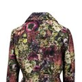 Valentino Floral Print Silk Polyester Belted Pea Coat Image 4