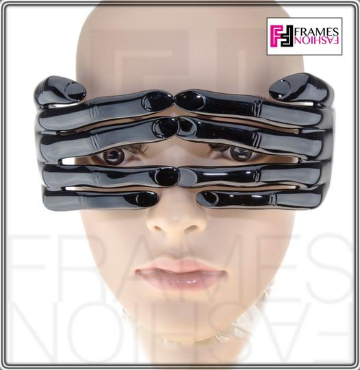 Jeremy Scott LINDA FARROW Jeremy Scott Black Hands Fashion Accessory JS/HANDS Image 2