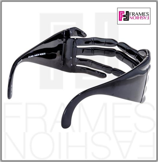 Jeremy Scott LINDA FARROW Jeremy Scott Black Hands Fashion Accessory JS/HANDS Image 4