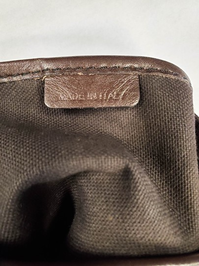 Burberry Beige Check Leather Brown Logo Tote Image 7
