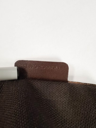 Burberry Beige Check Leather Brown Logo Tote Image 8