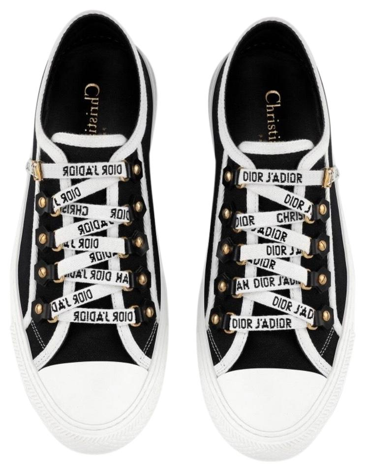 6f817194 Dior Black Christian Walk'n'dior Low-top In Canvas Sneakers Size US 8  Regular (M, B) 8% off retail