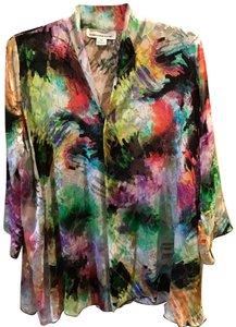 Caroline Rose Top Bright multi with black