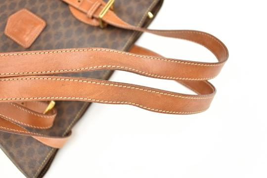 Céline Logo Brown Leather Shoulder Bag Image 6
