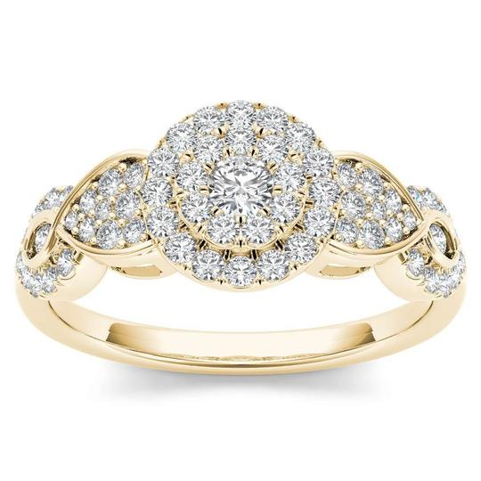 Preload https://img-static.tradesy.com/item/25592890/10kt-yellow-gold-050-ct-diamond-engagement-halo-ring-0-0-540-540.jpg