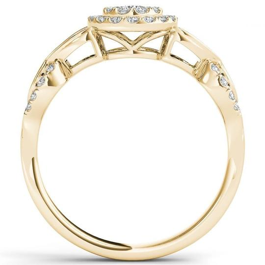 Elizabeth Jewelry 10Kt Yellow Gold 0.50 Ct Diamond Engagement Halo Ring Image 2