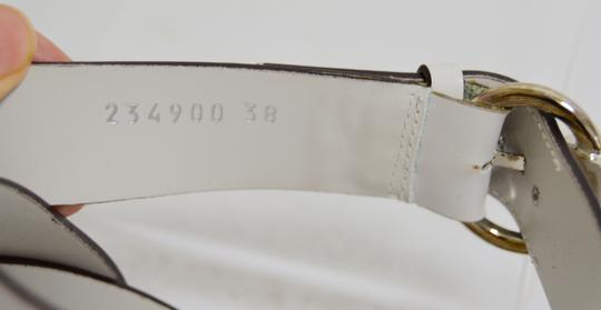 Gucci Wooden Strappy White Platforms Image 3