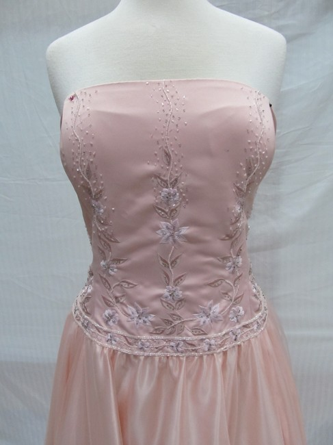 Forever Yours Vintage Long Bridesmaid Dress Image 2