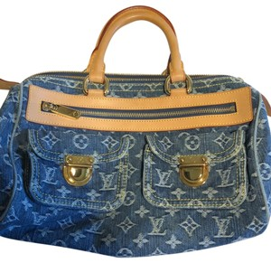 Louis Vuitton Satchel in blue denim.
