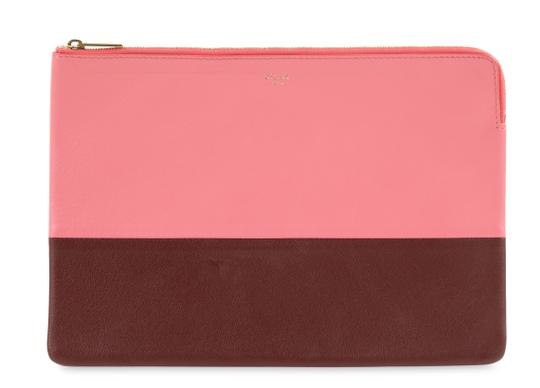 Preload https://item1.tradesy.com/images/celine-solo-colorblock-pouch-pink-calfskin-leather-clutch-25592935-0-0.jpg?width=440&height=440