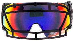 KTZ KTZ x Linda Farrow Football Helmet Sunglasses Steel Orange KTZ1