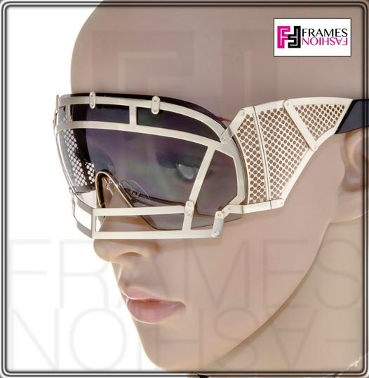KTZ KTZ x Linda Farrow Football Helmet Sunglasses Steel Orange KTZ1 Image 2