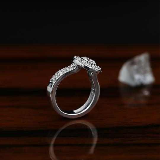 White Amazing Gold with 2.35ct. Total Engagement Ring Image 3