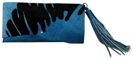 Harriet's Hides Blue and Black Clutch Image 0