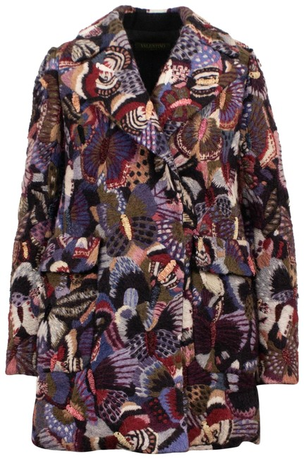 Preload https://img-static.tradesy.com/item/25593017/valentino-multi-color-wool-blend-butterfly-embroidered-coat-size-4-s-0-1-650-650.jpg