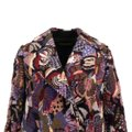 Valentino Wool Embroidered Beaded Detail Animal Print Pea Coat Image 3