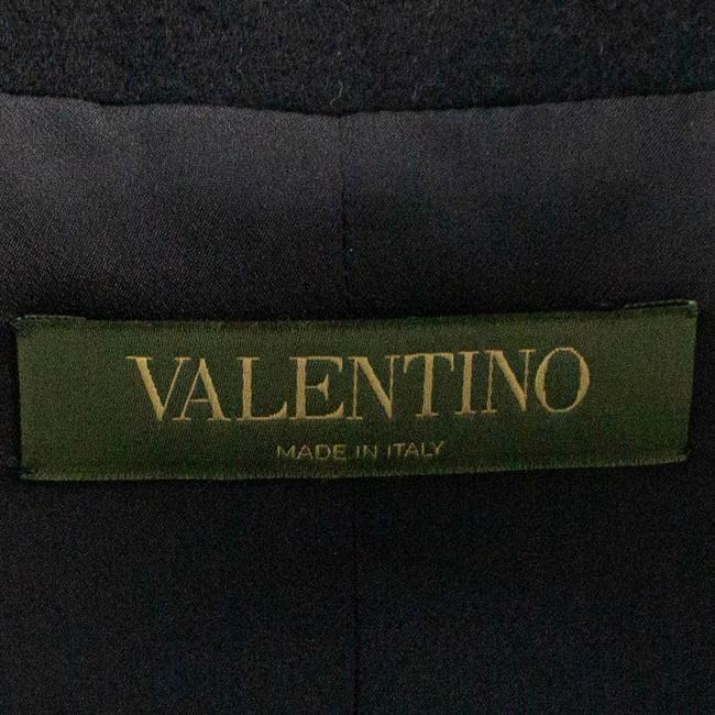 Valentino Wool Embroidered Beaded Detail Animal Print Pea Coat Image 5