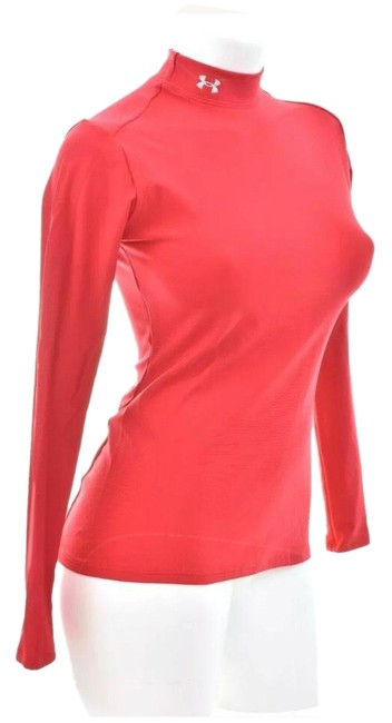 Item - Red L Athletic Stretch Turtle Neck Activewear Top Size 14 (L)