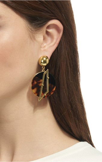 Lulu Frost NEW Lulu Frost for Whistles Tort Circle Earring Image 1