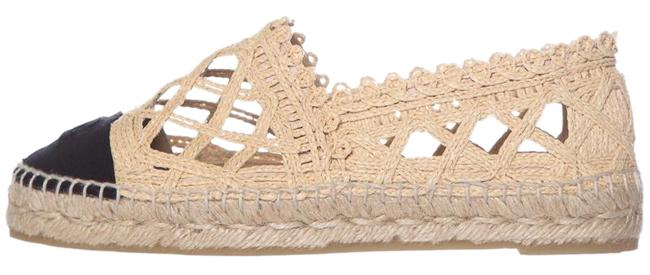 Item - Beige Tan & Black Espadrille Flats Size EU 38 (Approx. US 8) Regular (M, B)