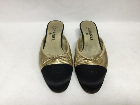Chanel Gold Flats Image 1