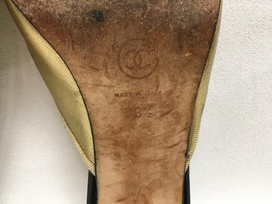 Chanel Gold Flats Image 6
