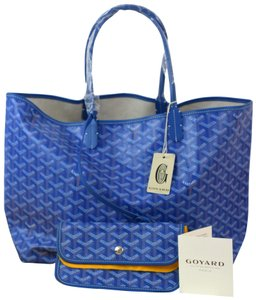 Goyard Saint Louis Louis Vuitton Canvas Tote in Blue
