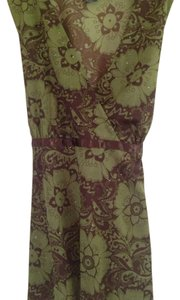 Hot Tempered Top green/brown floral
