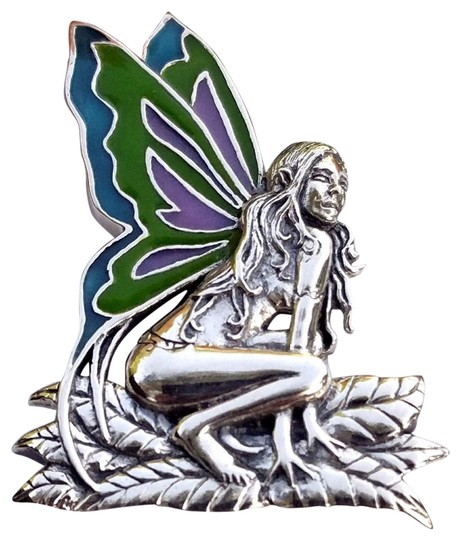 Preload https://img-static.tradesy.com/item/25593247/silver-variegated-designer-crafted-sterling-fairy-pendant-with-enamel-inlay-necklace-0-1-540-540.jpg