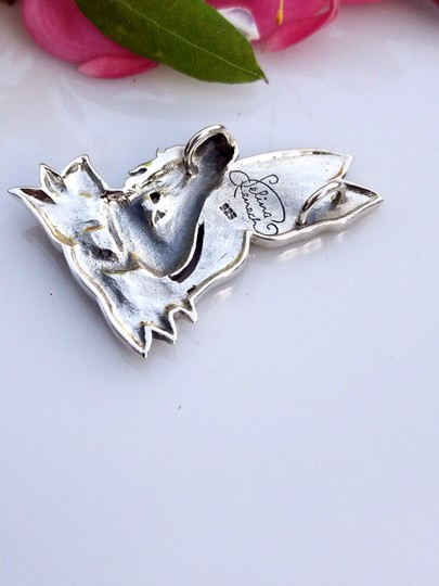 Peter Stone Fine Jewelry Beautiful Designer Crafted Sterling Silver Fairy Pendant With Enamel Inlay Image 4