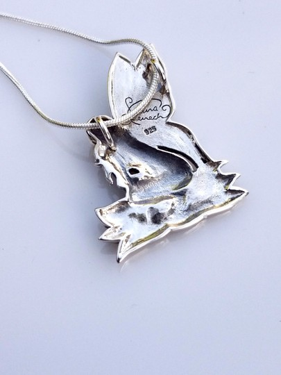 Peter Stone Fine Jewelry Beautiful Designer Crafted Sterling Silver Fairy Pendant With Enamel Inlay Image 6