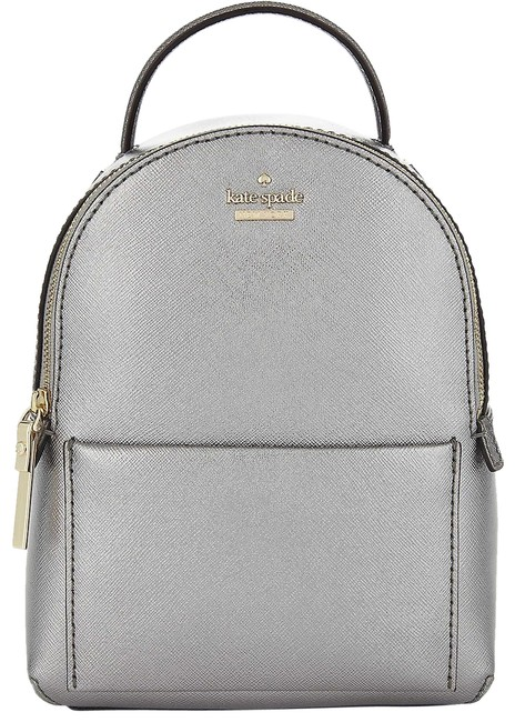 Item - Pxru8508 Cameron Street Merry Silver Anthracite Leather Backpack