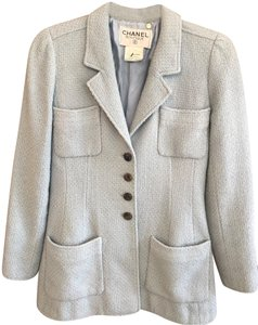 Chanel Silk Wool Baby Blue Jacket