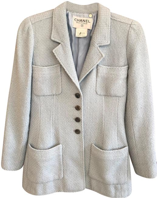 Chanel Silk Wool Baby Blue Jacket Image 0