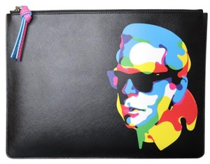 Karl Lagerfeld Multi/Black Clutch