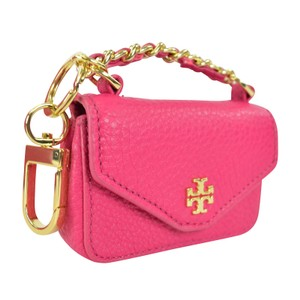 Tory Burch Kira Textured Leather Key Chain