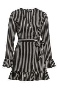 The Fifth Label Striped Wrap Dress